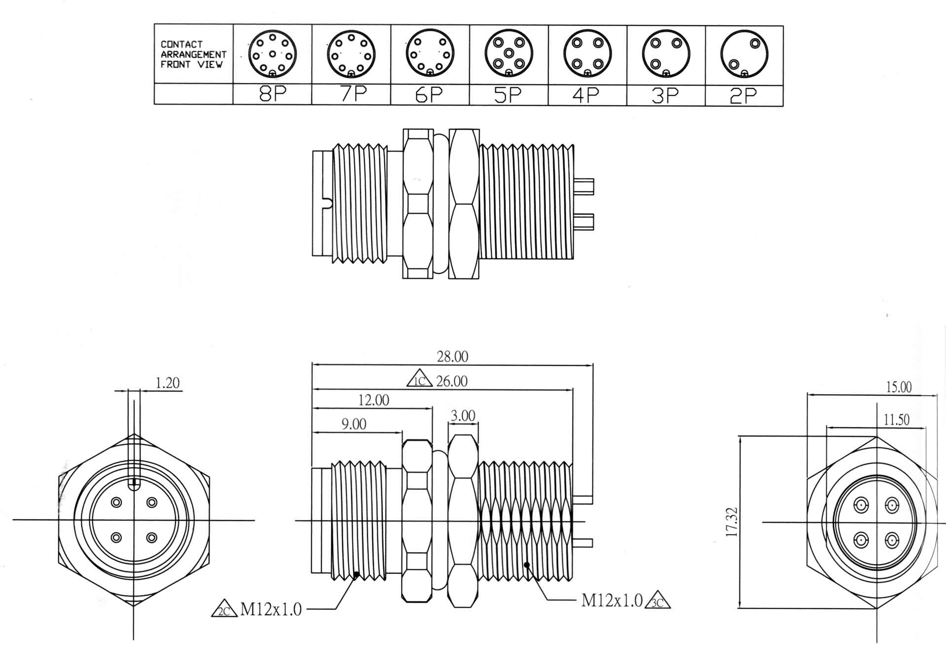M12 Electrical Connector