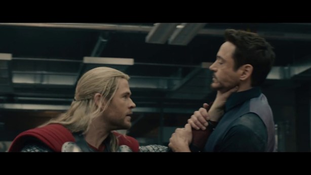 I don't know if he is being controlled or if he just likes choking Tony. via Marvel Studios (Avengers: Age of Ultron, Trailer #3)