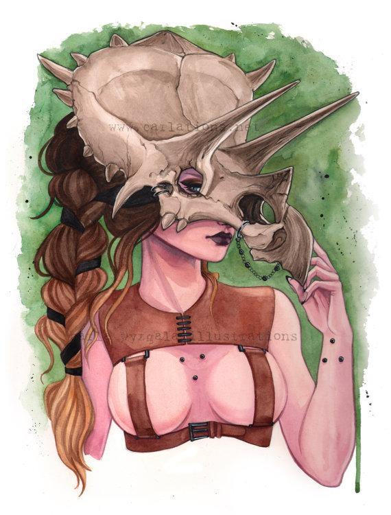 Triceratops Dinosaur Skull Mask