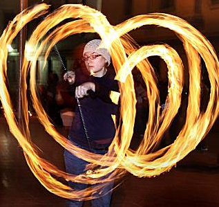 Fire Dancing at Temple of Poi fire jam!