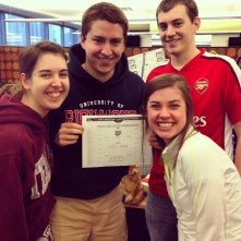 Our editorial team with the bracket before it was released to the public.