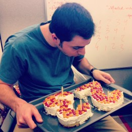 Happy Birthday, Beatty! Even though we all had to work, we wouldn't miss celebrating Justin's 23rd birthday in style.