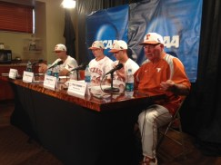 Augie Garrido in the press conference after Texas clinched its CWS berth.