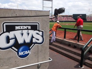 Texas prepares for its game in the dugout.