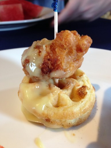 What's more Southern than mini chicken and waffles?