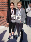 Emily and Meghan after the Trenton Half.