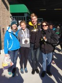 Jeremy, Nunny, and I were waiting at the finish line for Meghan and Emily.