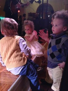 The quads were all about the band at the reception!