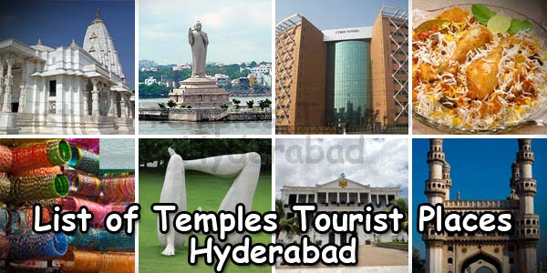 List of Temples And Tourist Places in Hyderabad