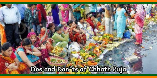 Dos and Don'ts of Chhath Puja