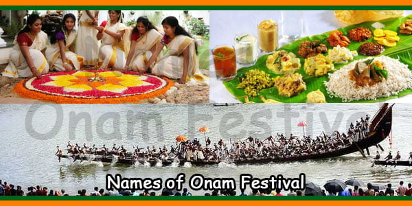 Names of Onam Festival
