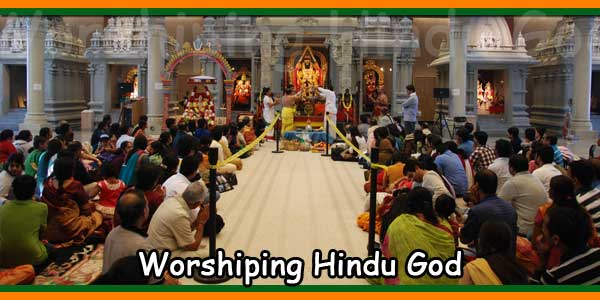 Worshiping Hindu God