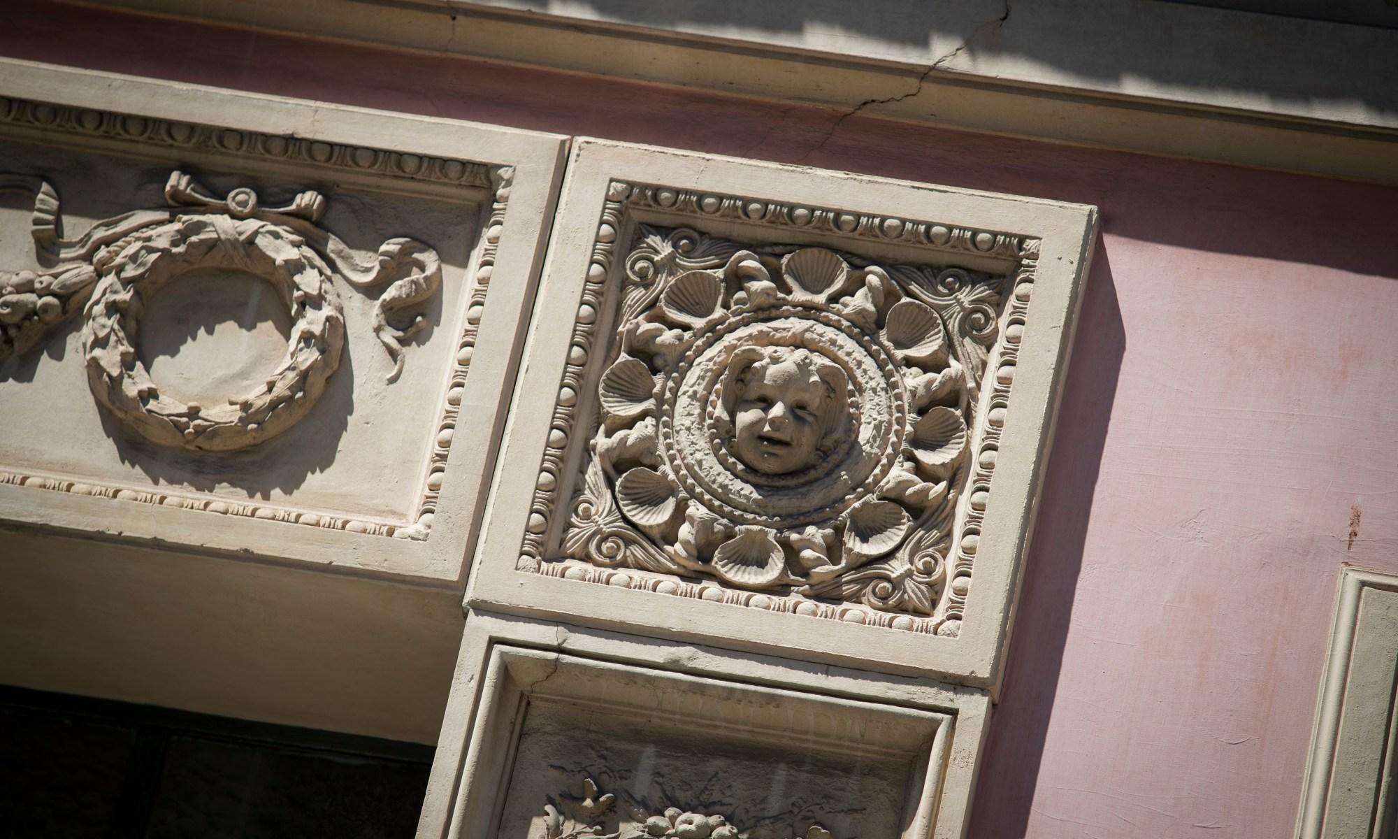 Roman door frame
