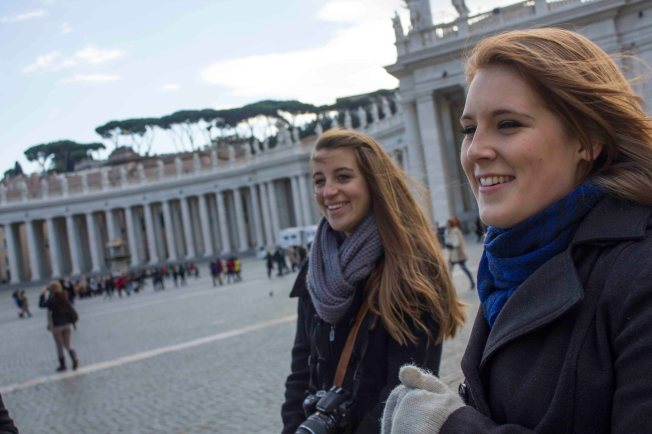 In St. Peter's Square at the Vatican