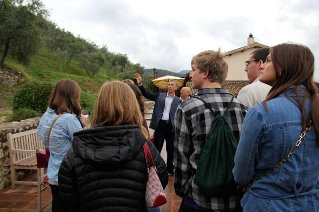 Monini showing us around