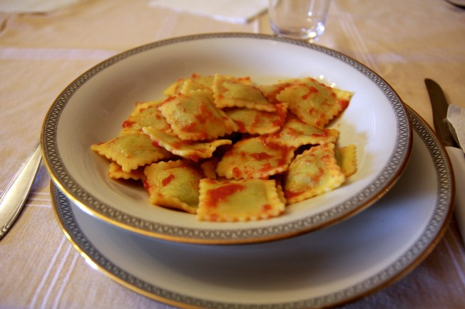 Fresh ravioli was only the first dish!