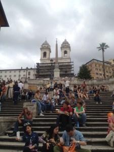 Piazza de Spagna - the Spanish Steps!