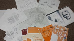 This is what happens when you don't have a balance of work and fun. Work from Korean, Japanese, Ideology, Drawing...all of it piles up.