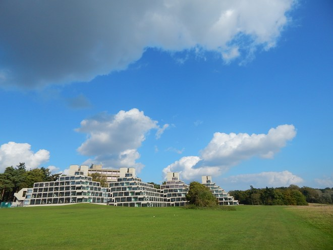 """The """"ziggurats"""" of the University of East Anglia add a mysterious and futuristic feeling to campus."""