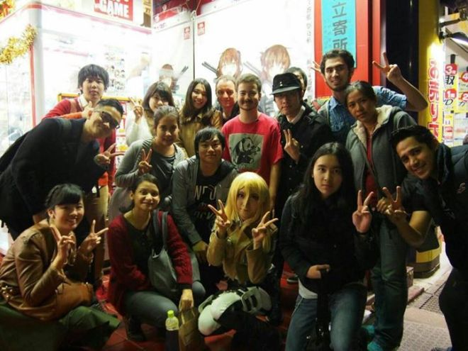 Group Picture in front of Taito Station!