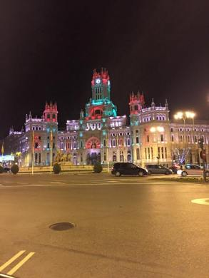Plaza de Cibeles - my favorite sight in Madrid because of the lighting done at night.