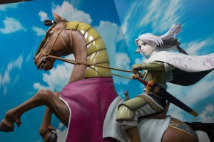 Many studios are a chance to promote their upcoming shows. This one, The Heroic Legend of Arslan, is an upcoming anime television show. This area was very busy because the manga version of the show was written by the famous author Arakawa Hiromi, known for creating the series Fullmetal Alchemist.