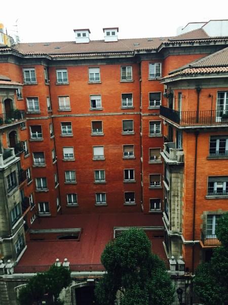 View of Calle Cervantes, Oviedo