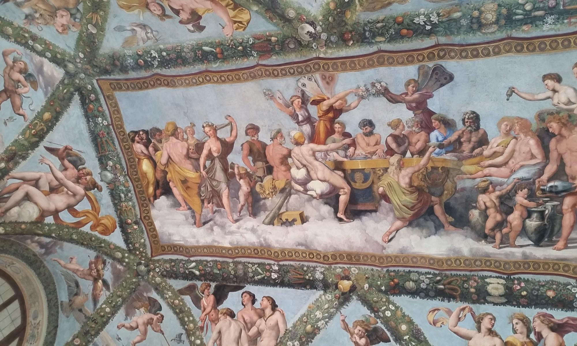 Ceiling art from Villa