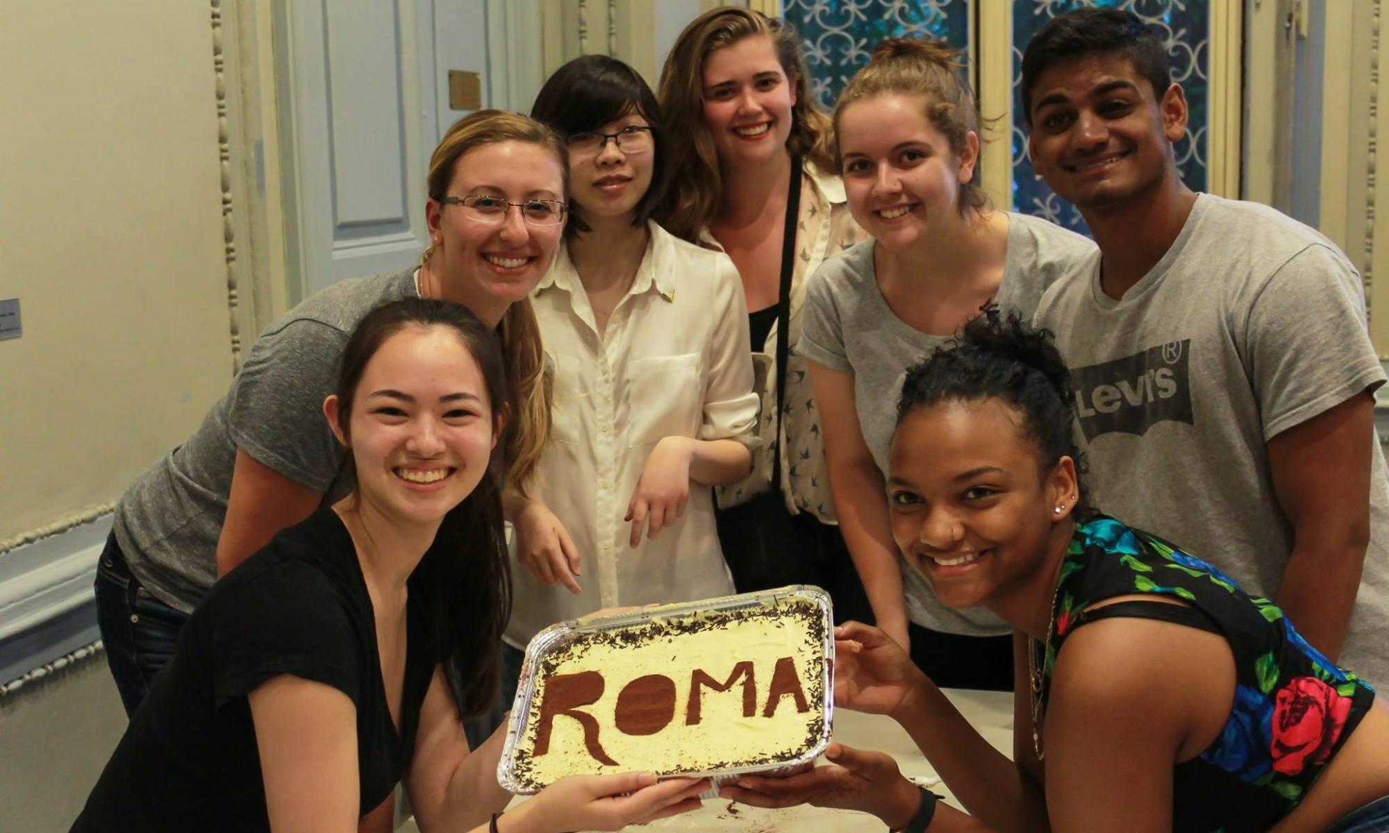 Students holding Tiramisu