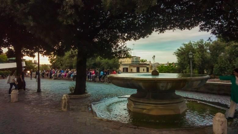 Medici Fountain at Sunset
