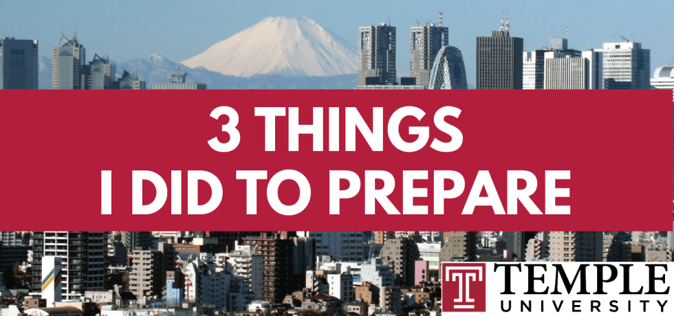 Episode 1: 3 things I did to prepare