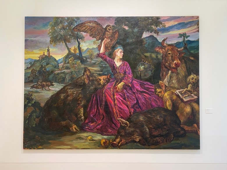 One of my favorite pieces (La Maga Circe by Luis Rodríguez-Vigil González-Torre, 1995-1996, oil on canvas) from the art museum in Oviedo, taken during an after-class excursion with the University of Oviedo