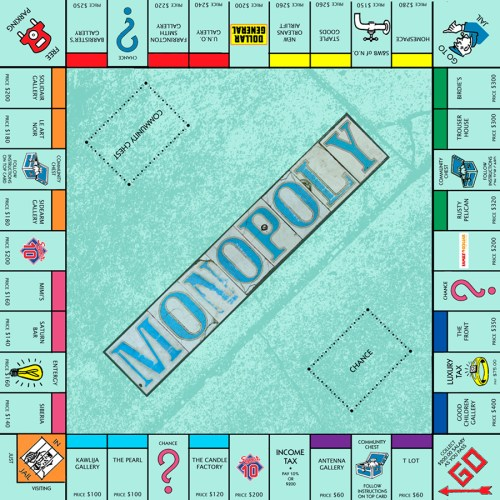 """G.A.S., Monopoly (St. Claude), 2012. Included in """"Spaces: Antenna, The Front, Good Children Gallery"""" at the Contemporary Arts Center. Courtesy Generic Art Solutions (G.A.S)."""