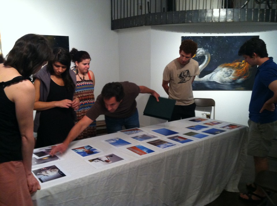 The Asheville Darkroom. Monthly Critique Night. Photo: Bridget Conn