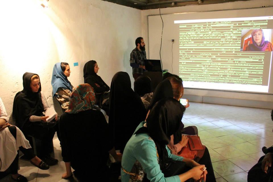 """Bitrates"" 2014. Curated by Morehshin Allahyari and Mani Nilchiani for Dar-al-Hokoomeh Project at Shiraz Artist House, Shiraz, Iran."