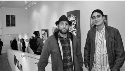Incline Gallery was founded in December 2010 by Brian Perrin (left) and Christo Oropeza (right).
