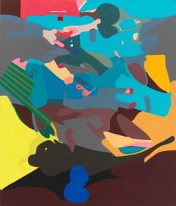 black cherry pit, 2009. 7 x 6 feet, acrylic on canvas photo: Tom Van Eynde