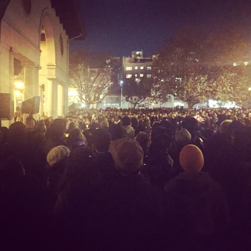 Vigil for those who Died in the Ghost Ship Fire. Photo: Liat Berdugo