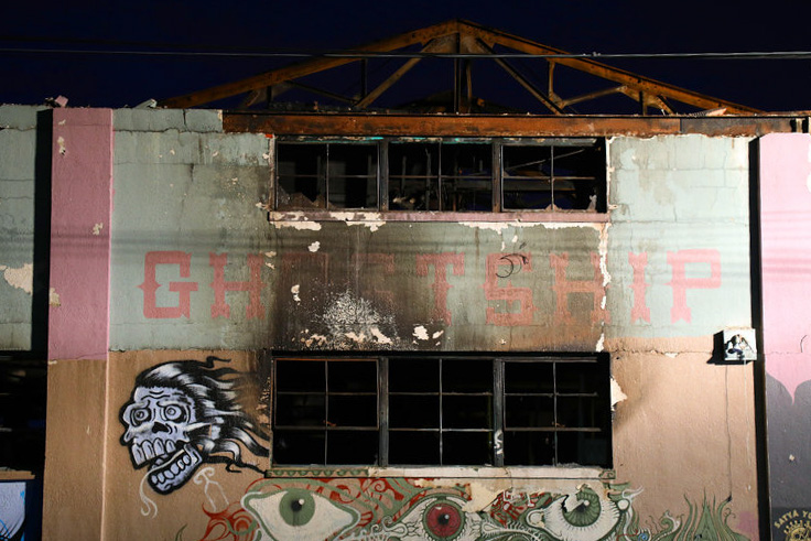 The Ghost Ship warehouse in Oakland. Photo: Jim Wilson/The New York Times