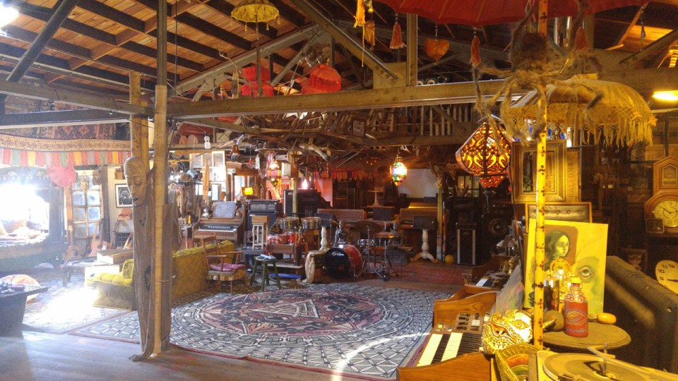 Inside the Ghost Ship before the fire. Photo: the Ghost Ship tumblr