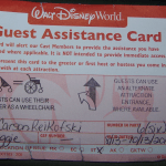 No  More Guest Assistance Cards after 10/8/13 at WDW or DL