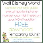 Walt Disney World Phone Guide – FREE ebook