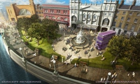 London Embankment at the all new Diagon Alley in Universal Studios Orlando