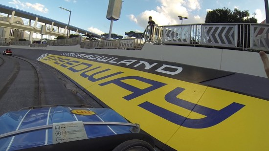 The Tomorrowland Speedway of DisneyWorld Magic Kingdom