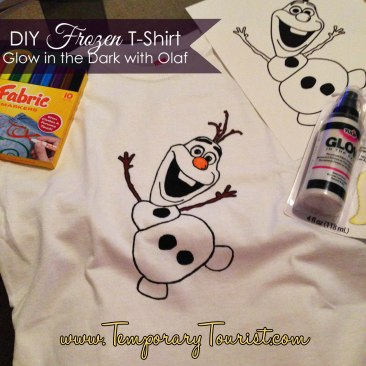 DIY Frozen T-shirts, Make Olaf Glow in The Dark!
