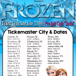 Disney on Ice Frozen – Cities and Dates of Scheduled Performances