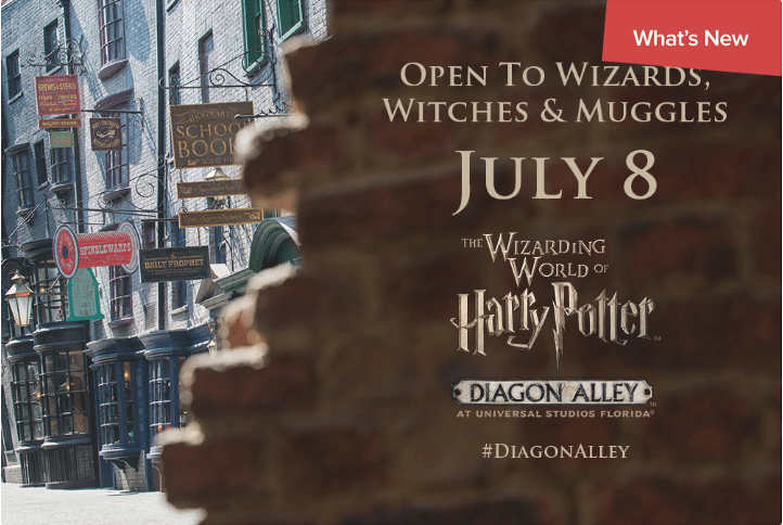 Diagon Alley in Universal Studios is set to open July 8!