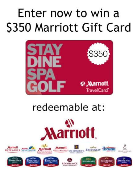 $350 Marriott Gift Card Giveaway