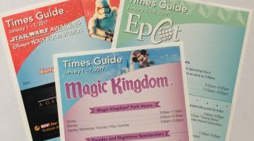Times Guides for Disney World Parks January 1st through 7th, 2017