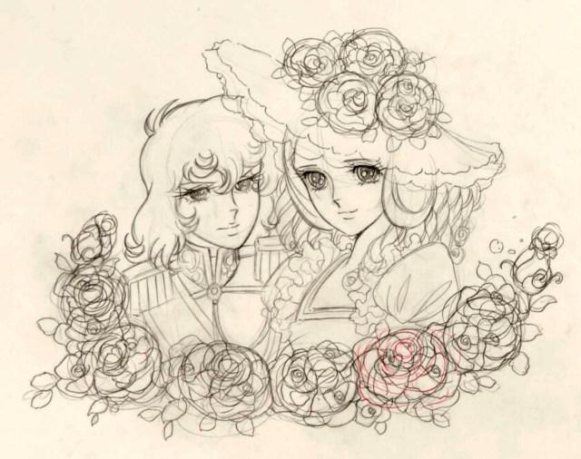 02 crayonné Lady Oscar